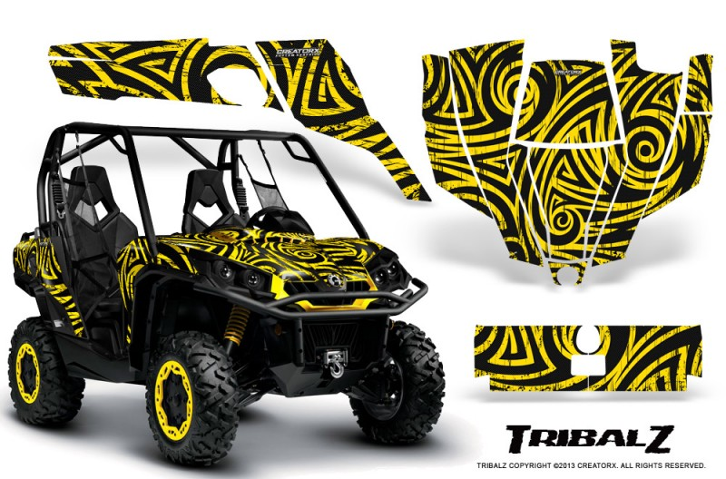 Can-Am-Commander-CreatorX-Graphics-Kit-TribalZ-Yellow