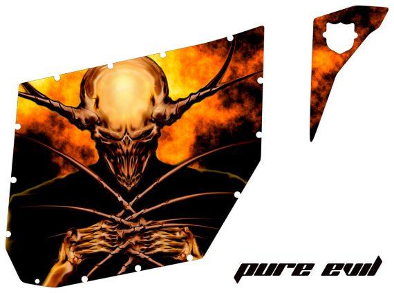 Can Am Commander Pro Armor CreatorX Graphics Pure Evil 570x424 - Can-Am Commander CREATORX Graphics for Pro Armor Doors