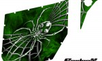 Can Am Commander Pro Armor CreatorX Graphics SpiderX Green 150x90 - Can-Am Commander CREATORX Graphics for Pro Armor Doors