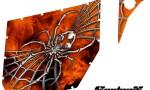 Can Am Commander Pro Armor CreatorX Graphics SpiderX Orange 150x90 - Can-Am Commander CREATORX Graphics for Pro Armor Doors