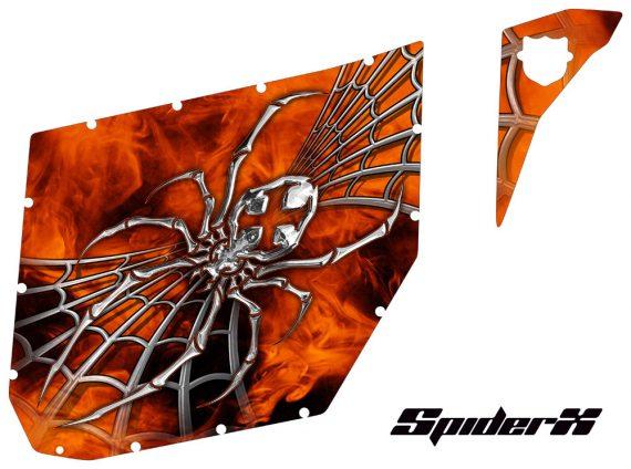 Can Am Commander Pro Armor CreatorX Graphics SpiderX Orange 570x424 - Can-Am Commander CREATORX Graphics for Pro Armor Doors