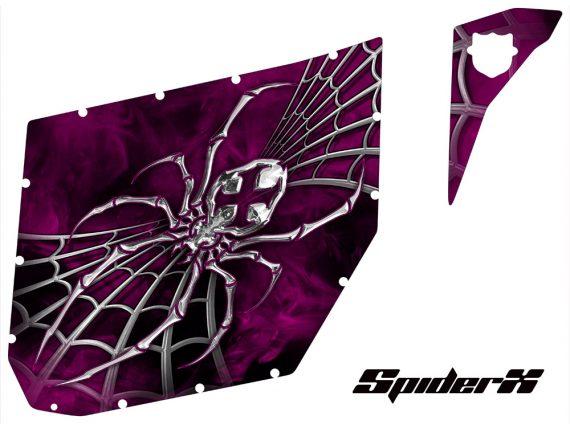 Can Am Commander Pro Armor CreatorX Graphics SpiderX Pink 570x424 - Can-Am Commander CREATORX Graphics for Pro Armor Doors