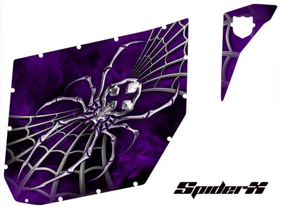 Can Am Commander Pro Armor CreatorX Graphics SpiderX Purple 570x424 - Can-Am Commander CREATORX Graphics for Pro Armor Doors