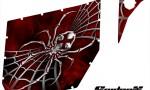 Can Am Commander Pro Armor CreatorX Graphics SpiderX Red 150x90 - Can-Am Commander CREATORX Graphics for Pro Armor Doors