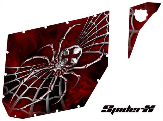 Can Am Commander Pro Armor CreatorX Graphics SpiderX Red 570x424 - Can-Am Commander CREATORX Graphics for Pro Armor Doors