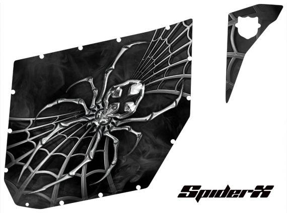 Can Am Commander Pro Armor CreatorX Graphics SpiderX Silver 570x424 - Can-Am Commander CREATORX Graphics for Pro Armor Doors