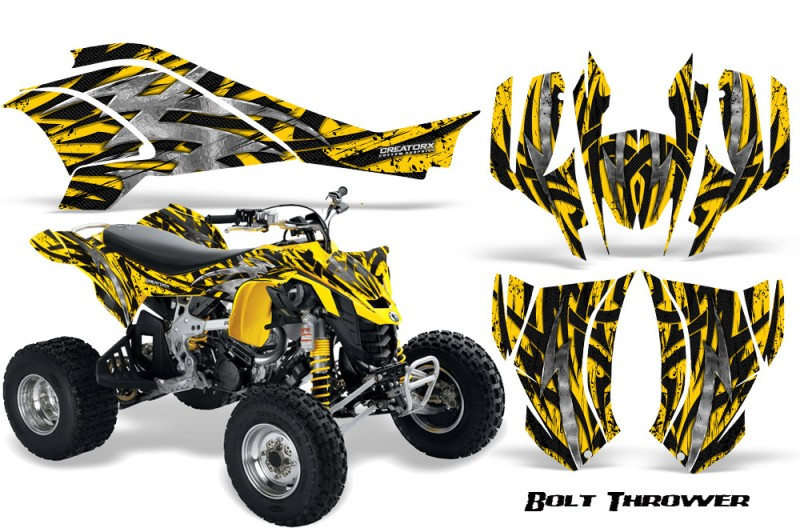 Can-Am-DS450-CreatorX-Graphics-Kit-Bolt-Thrower-Yellow