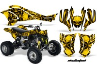 Can-Am-DS450-CreatorX-Graphics-Kit-Skullcified-Yellow-Flat-Black