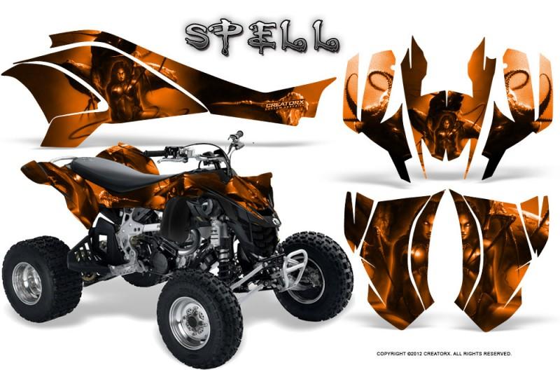 Can-Am-DS450-CreatorX-Graphics-Kit-Spell-Orange