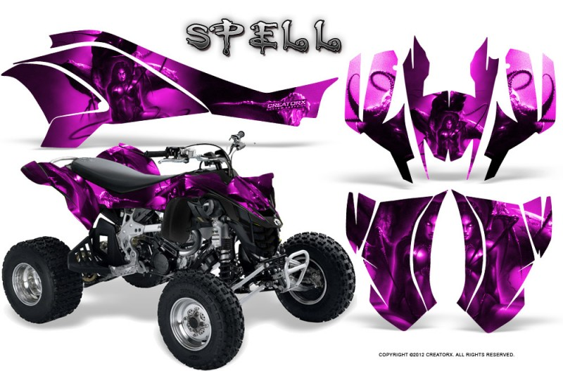 Can-Am-DS450-CreatorX-Graphics-Kit-Spell-Pink