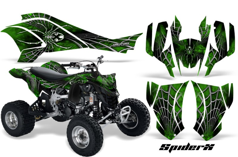 Can-Am-DS450-CreatorX-Graphics-Kit-SpiderX-Green