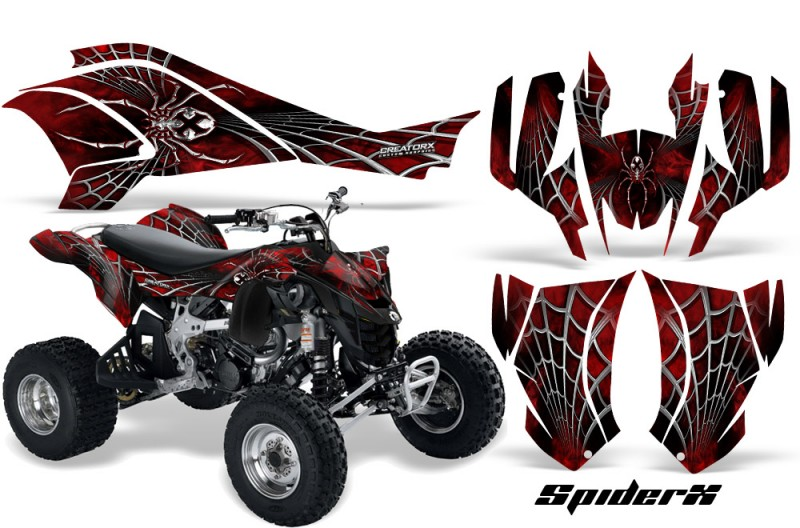 Can-Am-DS450-CreatorX-Graphics-Kit-SpiderX-Red