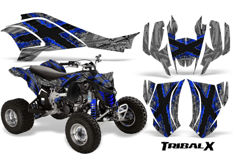 Can-Am-DS450-CreatorX-Graphics-Kit-TribalX-Blue-Silver