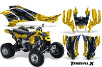 Can-Am-DS450-CreatorX-Graphics-Kit-TribalX-Blue-Yellow