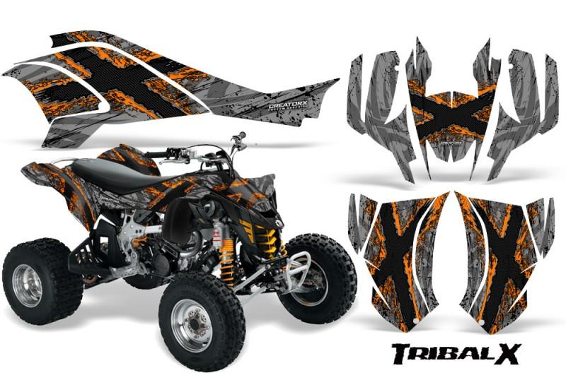 Can-Am-DS450-CreatorX-Graphics-Kit-TribalX-Orange-Silver
