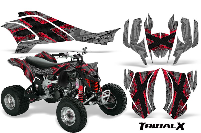 Can-Am-DS450-CreatorX-Graphics-Kit-TribalX-Red-Silver