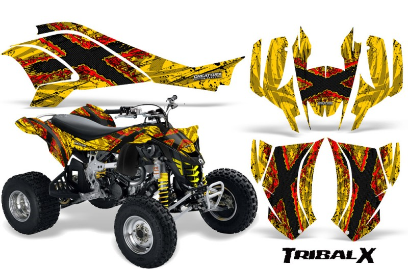 Can-Am-DS450-CreatorX-Graphics-Kit-TribalX-Red-Yellow-BB