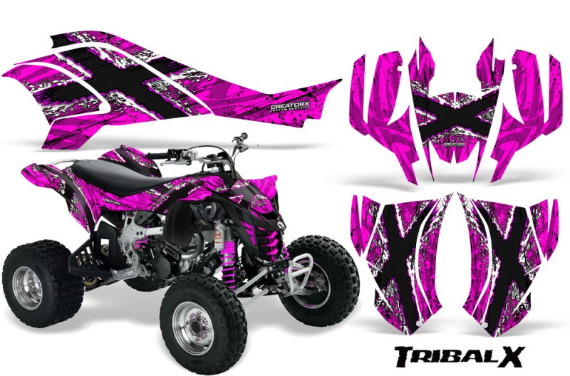 Can-Am-DS450-CreatorX-Graphics-Kit-TribalX-White-Pink-BB
