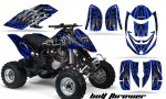 Can Am DS650 CreatorX Graphics Kit Bolt Thrower Blue 150x90 - Can-Am DS650 Graphics