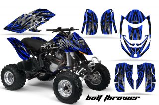 Can Am DS650 CreatorX Graphics Kit Bolt Thrower Blue 320x211 - Can-Am DS650 Graphics