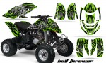 Can Am DS650 CreatorX Graphics Kit Bolt Thrower Green 150x90 - Can-Am DS650 Graphics