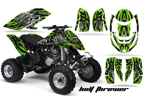 Can Am DS650 CreatorX Graphics Kit Bolt Thrower Green 570x376 - Can-Am DS650 Graphics