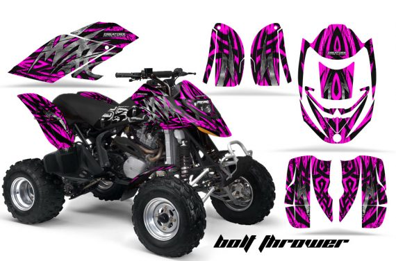 Can Am DS650 CreatorX Graphics Kit Bolt Thrower Pink 570x376 - Can-Am DS650 Graphics