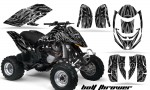 Can Am DS650 CreatorX Graphics Kit Bolt Thrower Silver BB 150x90 - Can-Am DS650 Graphics