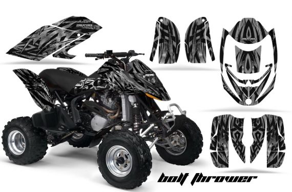 Can Am DS650 CreatorX Graphics Kit Bolt Thrower Silver BB 570x376 - Can-Am DS650 Graphics