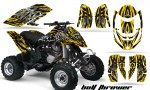 Can Am DS650 CreatorX Graphics Kit Bolt Thrower Yellow BB 150x90 - Can-Am DS650 Graphics