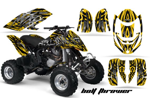 Can Am DS650 CreatorX Graphics Kit Bolt Thrower Yellow BB 570x376 - Can-Am DS650 Graphics