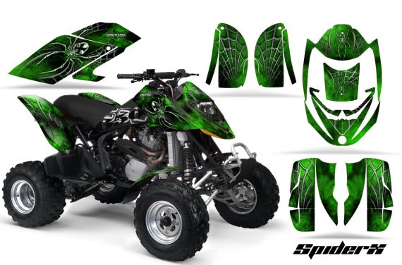 Can Am DS650 CreatorX Graphics Kit SpiderX Green 570x376 - Can-Am DS650 Graphics