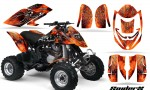 Can Am DS650 CreatorX Graphics Kit SpiderX Orange 150x90 - Can-Am DS650 Graphics