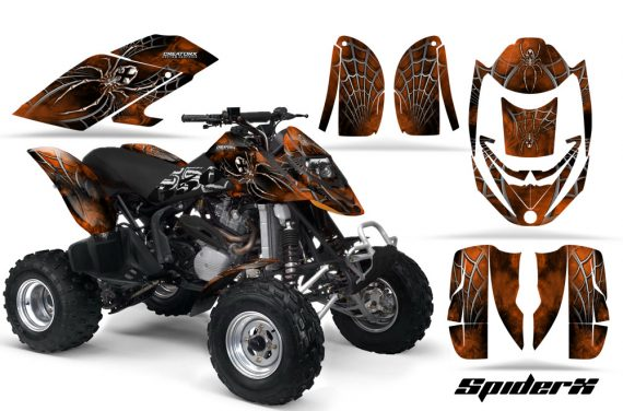 Can Am DS650 CreatorX Graphics Kit SpiderX Orange Dark 570x376 - Can-Am DS650 Graphics