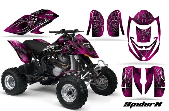 Can Am DS650 CreatorX Graphics Kit SpiderX Pink 570x376 - Can-Am DS650 Graphics