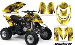 Can Am DS650 CreatorX Graphics Kit SpiderX Yellow BB 150x90 - Can-Am DS650 Graphics