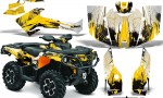 Can Am Outlander 1000 2012 AMR Graphics Kit CANAM YELLOW CX1 150x90 - Can-Am Outlander 500-650-800-1000 XMR-MAX XT XT-P DPS SST G2 2013-2021 Graphics