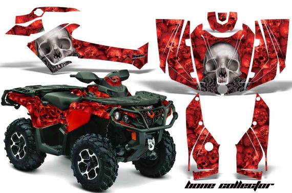 Can Am Outlander 1000 2012 AMR Graphics Kit R BC1 570x376 - Can-Am Outlander 500-650-800-1000 XMR-MAX XT XT-P DPS SST G2 2013-2021 Graphics