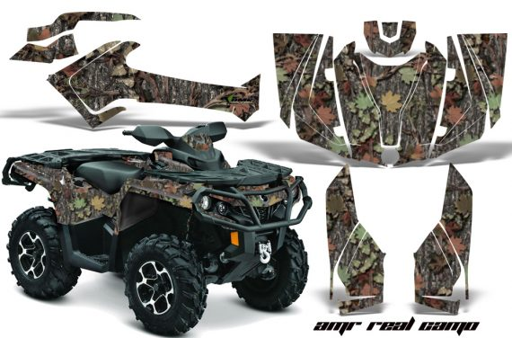 Can Am Outlander 1000 2012 AMR Graphics Kit Real Camo1 570x376 - Can-Am Outlander 500-650-800-1000 XMR-MAX XT XT-P DPS SST G2 2013-2021 Graphics