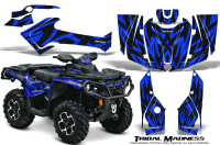 Can-Am-Outlander-1000-2012-Graphics-Kit-Tribal-Madness-Blue
