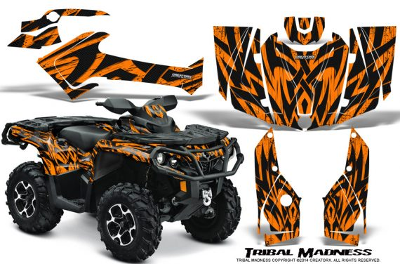 Can-Am-Outlander-1000-2012-Graphics-Kit-Tribal-Madness-Orange