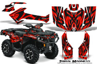 Can-Am-Outlander-1000-2012-Graphics-Kit-Tribal-Madness-Red