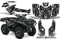 Can-Am-Outlander-1000-2012-Graphics-Kit-Tribal-Madness-Silver
