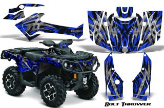 Can-Am-Outlander-2013-2014-XMR-MAX-G2-XT-DPS-CreatorX-Graphics-Kit-Bolt-Thrower-Blue