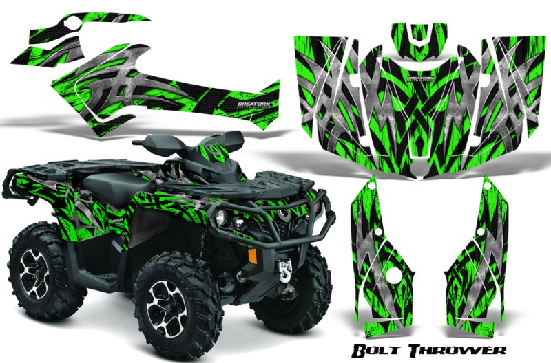 Can-Am-Outlander-2013-2014-XMR-MAX-G2-XT-DPS-CreatorX-Graphics-Kit-Bolt-Thrower-Green