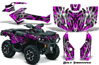 Can-Am-Outlander-2013-2014-XMR-MAX-G2-XT-DPS-CreatorX-Graphics-Kit-Bolt-Thrower-Pink