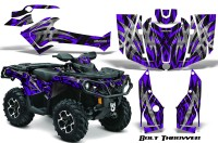 Can-Am-Outlander-2013-2014-XMR-MAX-G2-XT-DPS-CreatorX-Graphics-Kit-Bolt-Thrower-Purple