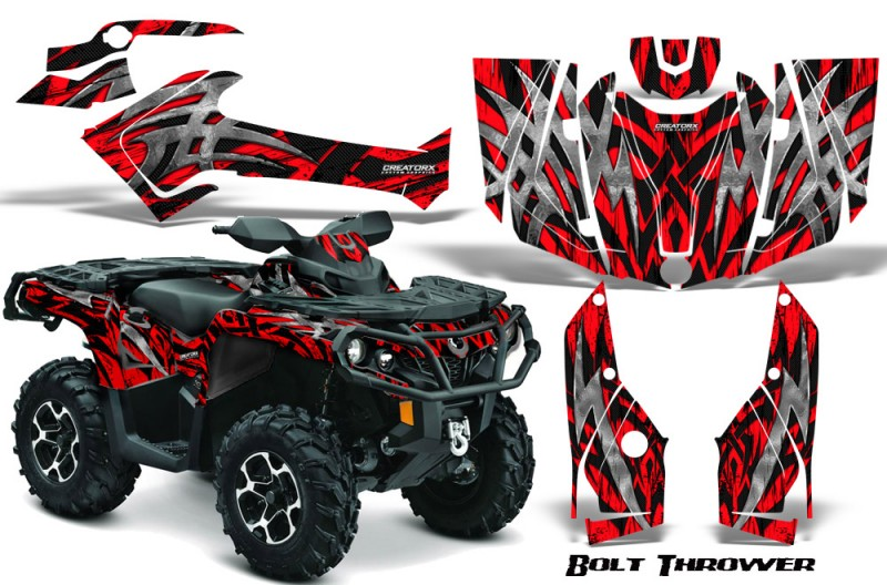 Can-Am-Outlander-2013-2014-XMR-MAX-G2-XT-DPS-CreatorX-Graphics-Kit-Bolt-Thrower-Red