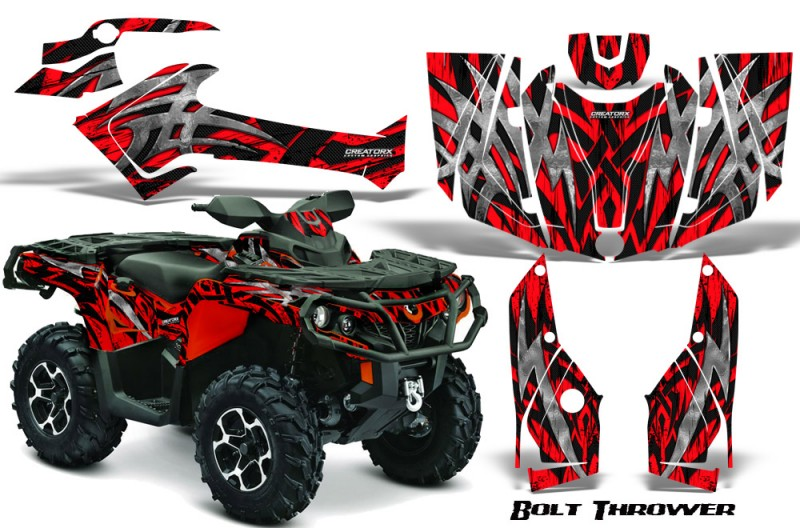 Can-Am-Outlander-2013-2014-XMR-MAX-G2-XT-DPS-CreatorX-Graphics-Kit-Bolt-Thrower-Red-RB