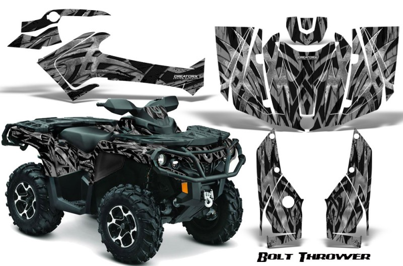Can-Am-Outlander-2013-2014-XMR-MAX-G2-XT-DPS-CreatorX-Graphics-Kit-Bolt-Thrower-Silver